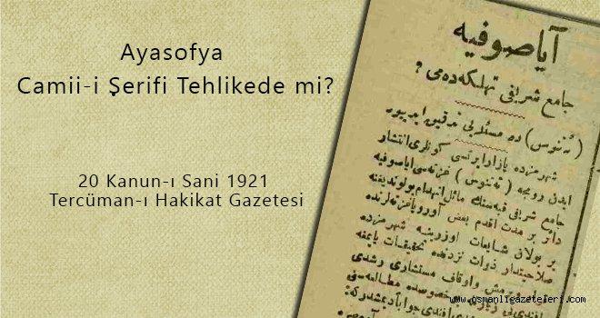 Ayasofya Camii-i Şerifi Tehlikede mi?