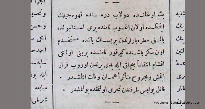 Beyoğlu'nda Cinayet (1891)