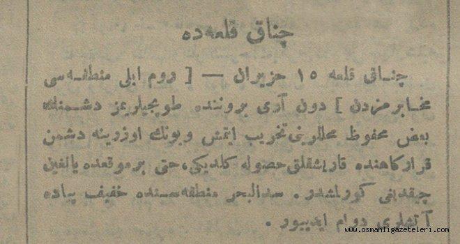 Çanakkale'de (29 Haziran 1915)