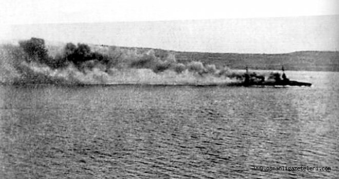 Çanakkale'de bir düşman zırhlısı daha batırıldı.