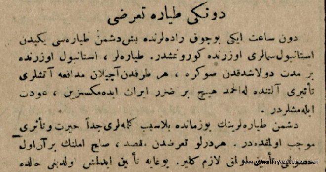 Dünkü Tayyare Taarruzu