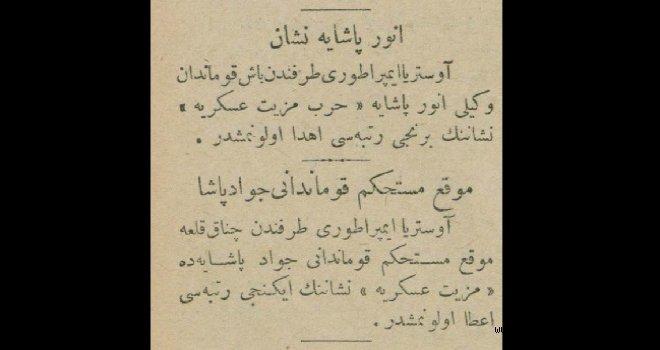 Enver Paşa'ya nişan (1915)