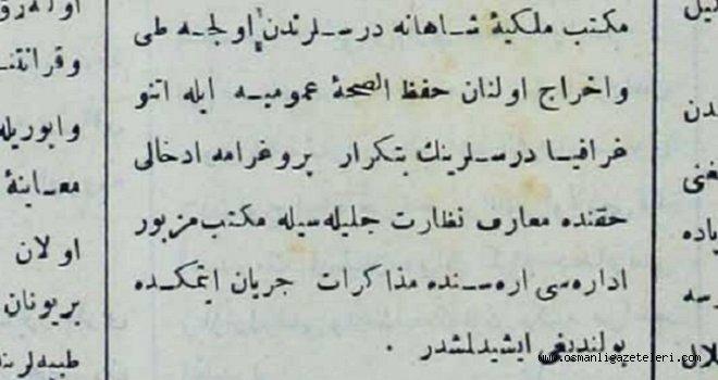 Etnografya mekteplerde ders olacak (1892)