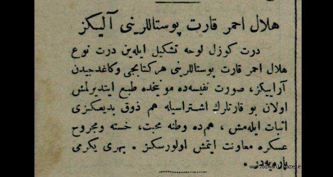 Hilal-i Ahmer kartpostallarını alınız