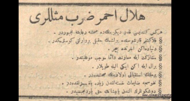 Hilâl-i Ahmer Darb-ı Meselleri