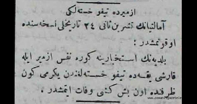 İzmir'de tifo salgını ! (12 Aralık 1900)