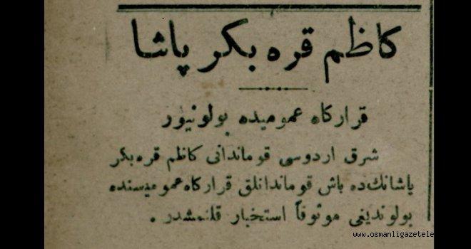 Kazım Karabekir Paşa karargah-ı umumide bulunuyor