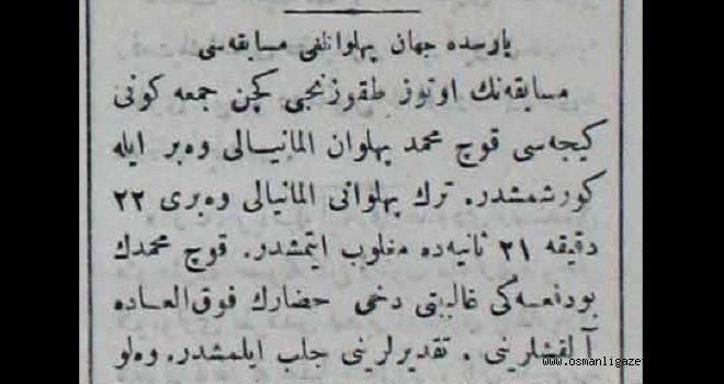 Koç Mehmed Almanyalı rakibini yendi
