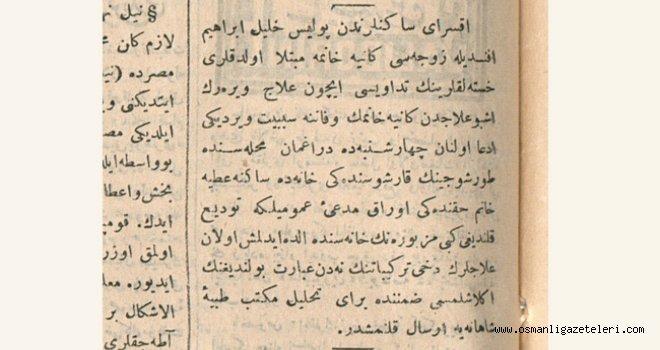 Kocakarı ilacı öldürdü (20 haziran 1900)