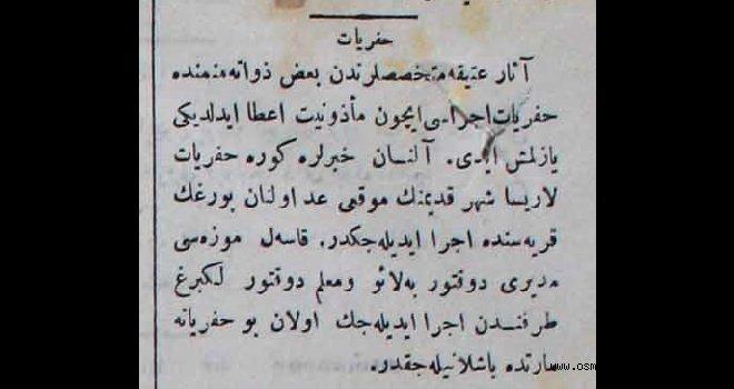 Menemen'de Kazı Çalışmaları