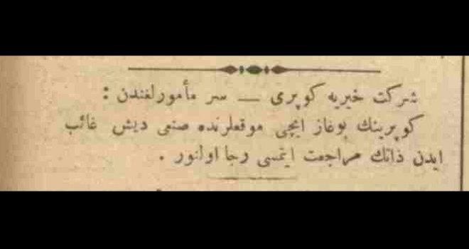 Osmanlı basınında ilginç kayıp ilanı