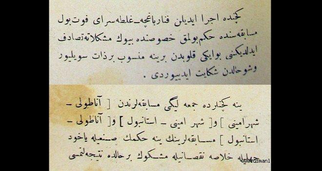 Osmanlı dönemi futbolunda hakem eleştirisi örneği  - 1914-