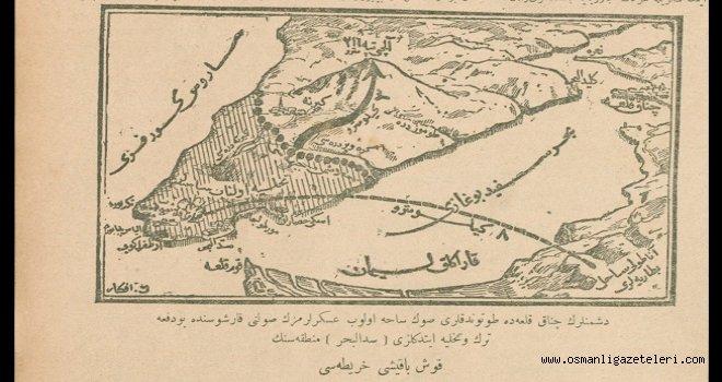 Seddülbahir bölgesinin Kuş bakışı haritası