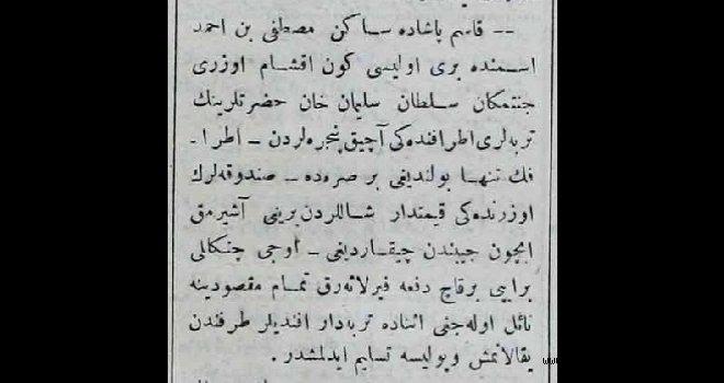 Sultan Süleyman'ın türbesini soyarken yakalandı !