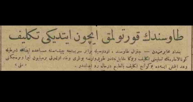 Tawshend'in kurtulmak için ettiği teklif