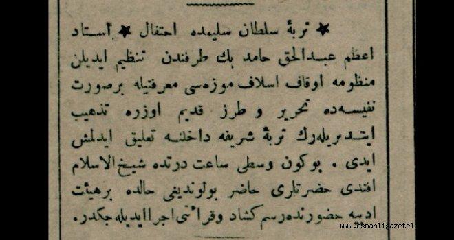 Türbe-i Sultan Selim'de İhtifal (merasim)