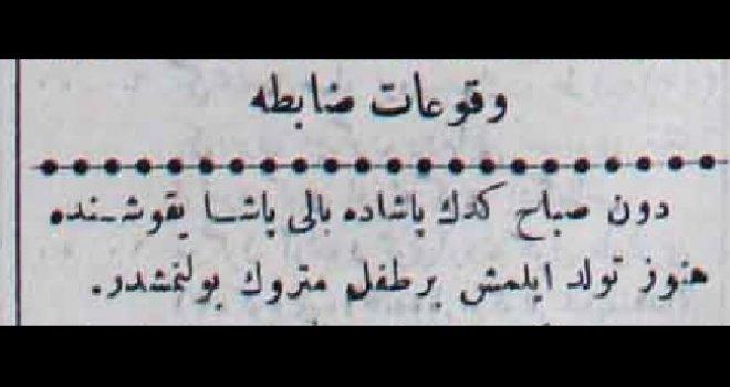 Vukuat-ı zabıta 14 Nisan 1901