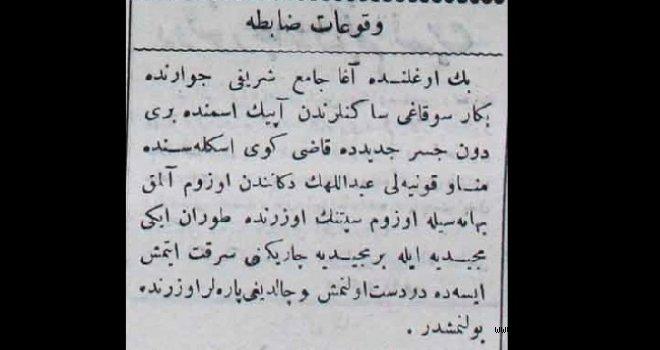 Vukuat-ı Zabıta (18 Ekim 1900)