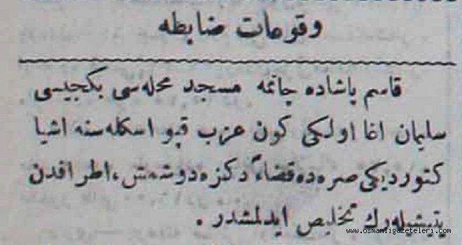 Vukuat-ı zabıta (20 Mayıs 1901)
