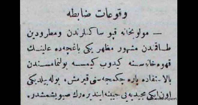 Vukuat-ı Zabıta (8 Kasım 1900)