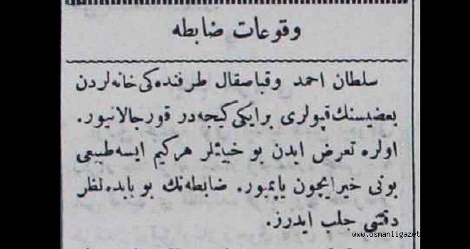 Vukuat-ı Zabıta (Sultanahmed civarında)