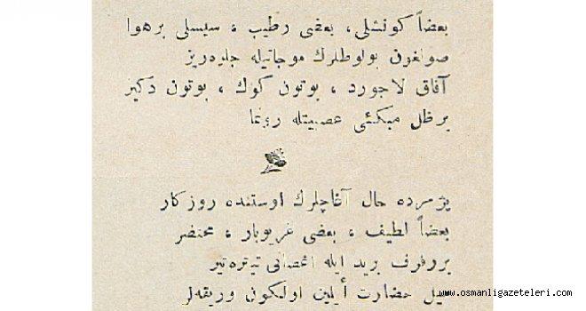 Yahya Kemal'in Malumat Dergisinde yayınlanan bir şiiri